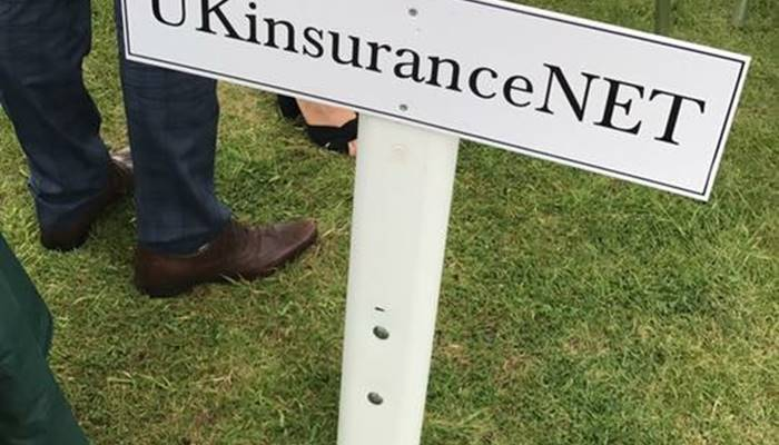 UKinsuranceNET sign in ground at race course