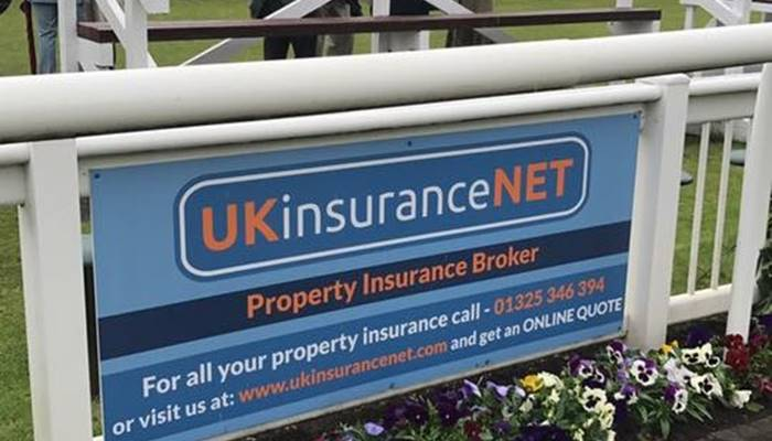 UKinsuranceNET banner at race course