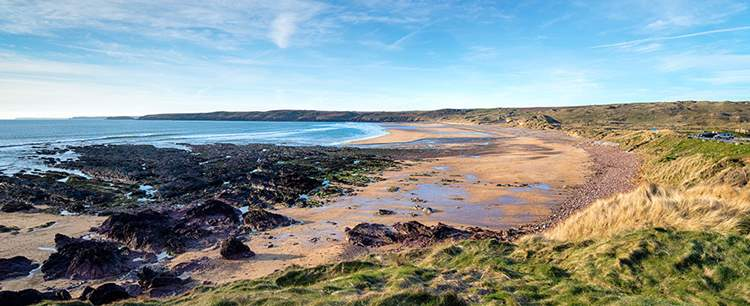 Freshwater West Beach In Pembrokeshire PG3XFK5